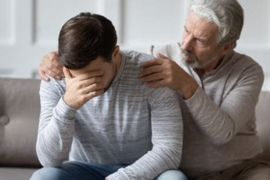 Dads struggling with addiction and mental health.